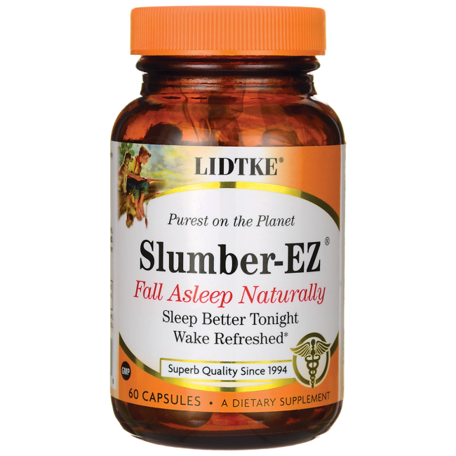 Slumber-EZ from LIDTKE allows you to fall asleep naturally, stay asleep, and wake with ease and restoration..