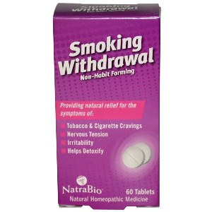 Safe, effective, nicotine free stop smoking aid helps to reduce cravings, nervous tension and irritability..