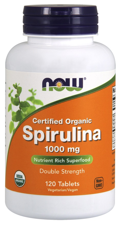 Spirulina Certified Organic (1000mg) (120 tablets) Double Strength. Excellent for building a strong and healthy immune system..