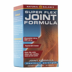 Super Flex Joint Formula from Natural Balance provides nutritive support for healthy joints and muscle tissue..