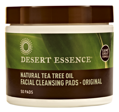 Tea Tree Oil Facial Cleansing Pads have been infused with a combination of pure essential oils to reduce oily skin that can lead to breakouts. No harsh chemicals or detergents to dry skin. Cruelty-free. Excellent for removing facial make-up..