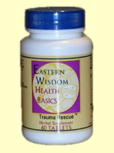 Eastern Wisdom Trauma Rescue uses natural herbs and plant extracts to help the body heal more quickly after minor injuries..