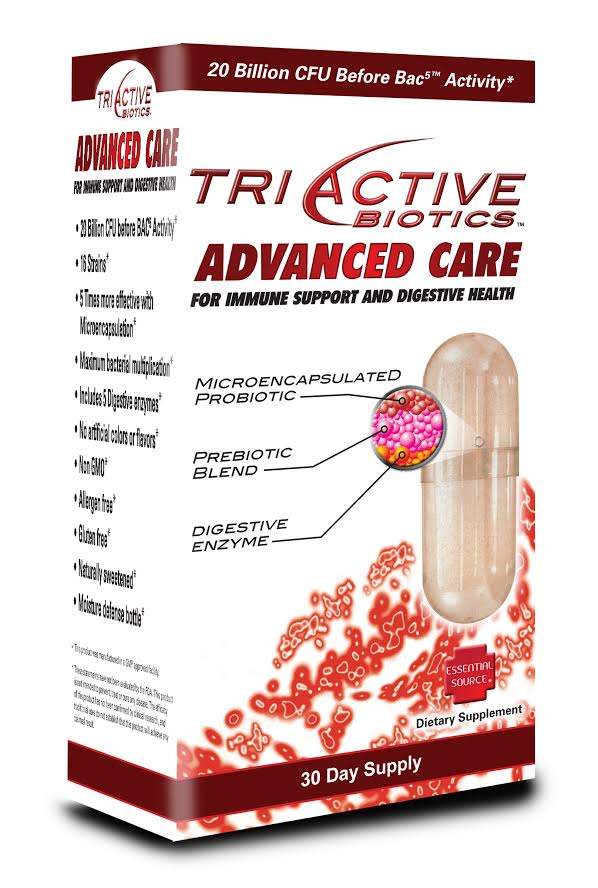 TriActive Advanced probiotic may be extremely beneficial for people before and after a course of antibiotics. Microencapsulated for superior absorption with the additon of 5 digestive enzymes. This combination is a perfect choice for immune support and optimal digestive health..