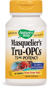 Nature's Way Masquelier's Tru OPCs provides powerful antioxidant protect from Grape Seeds. It also contains a blend of active monomers and oligomers that have been clinically proven to be beneficial for the body's overall health..