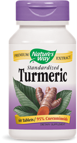 Nature's Way Turmeric Standardized is standardized to 95% curcuminoids, a potent antioxidant. Multiple Health benefits emerging daily while using turmeric..