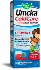 Umcka ColdCare Children's Syrup - Clinically Proven to shorten duration of common colds, bronchial & sinus infections..