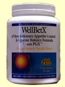 Natural Factors' WellBetX Meal Replacement Powder is designed to promote and support weight loss through appetite control and glucose balance. No more fad diets that send your blood sugar soaring!.